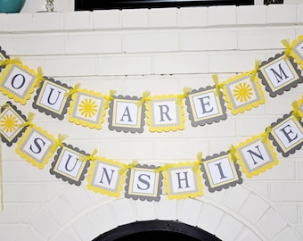 You are my sunshine-Little Miss Sunshine-Sunshine theme birthday banner-You are my Sunshine-