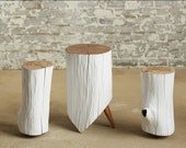 Olee side tables in white.