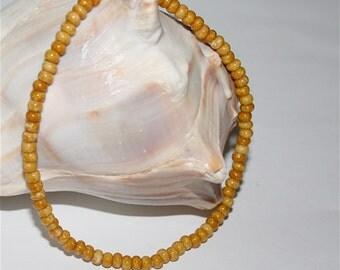 Earthy Anklet Boho Beaded Ankle Bracelet Picasso Marble Stone Look Czech Glass Beads Handmade Khaki Women Jewelry by CzechBeaderyShop