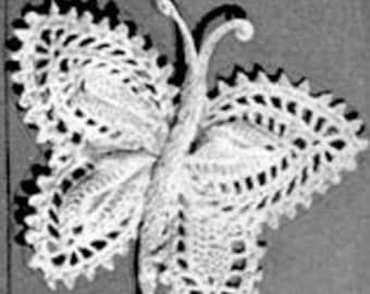 Vintage Butterfly Crochet Pattern, PDF