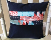 Pillow Cover, Waterfront Park Patchwork Pillow Cover