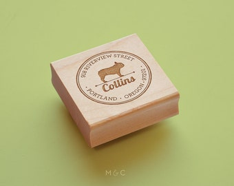 French Bulldog -  Personalized Address Stamp