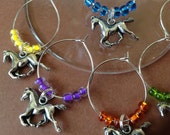 Horses Wine Charms with gift box