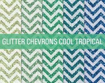 Tropical Glitter, Chevron Glitter, Digital Papers, Glitter Digital, Glitter Papers, Glitter Textures, Glitter Backgrounds