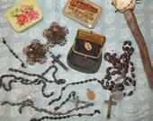 Destash, Spring Cleaning Vintage Rosary Stash Lot #6