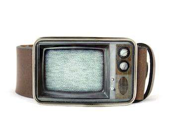 RetroTV Belt Buckle, Television Belt Buckle