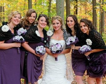 grey bolero, bolero jacket, bridal shawl, wedding shawl, capelet, bridesmaid gift, womens gift, knit shawl, grey shawl