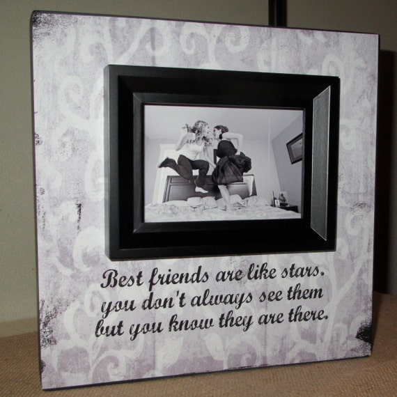 Friendship Quotes For Picture Frames : Best friend friends picture frame poem quote bridesmaid