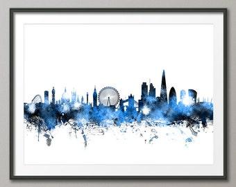 London Skyline, London Cityscape England, Art Print (1094)