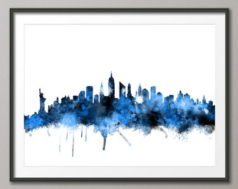 New York City Skyline, Art Print (1113)