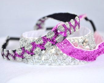 No Slip Headband 3 Pack Pink Bling