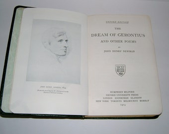 The Dream of Gerontious and Other Poems by John Henry Newman Ladies of Mary Sanderstead Convent St Anne's College Vintage Poetry