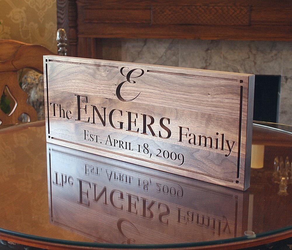Last Name Wedding Themes: Last Name Sign Custom Sign Family Established Sign Wedding