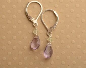 Pink Amethyst Earrings, Amethyst Gemstone Earrings, Light Purple Earrings, February Birthstone Earrings, Healing Gemstone Jewelry