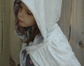 White Wizard Cloak of Mystery - Halloween Costume - Kid Costume