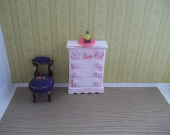 Shabby Chic Dollhouse Dresser One Inch Scale