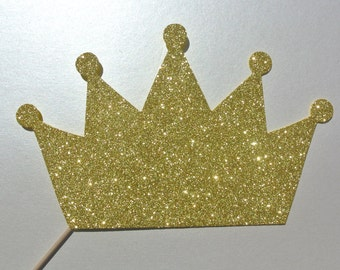 King Crown   Photo Booth Prop  Theme Party Tea Party hat on a stick Princess