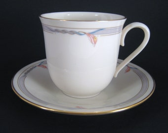 Teacup and Saucer Lenox Gramercy, Made in USA