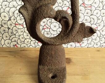 Antique cast iron horse hitch