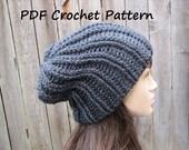 CROCHET PATTERN - Chunky Hat, Crochet Pattern PDF,Easy, Great for Beginners,  Pattern No. 62