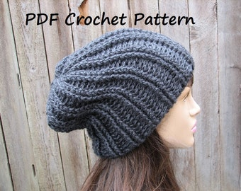 CROCHET PATTERN - Chunky Hat, Crochet Pattern PDF,Easy, Great for Beginners,  Pattern No. 62