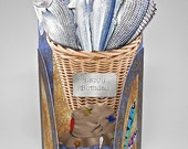 Fish Basket Man's Birthday 3D Card