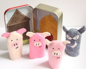 3 Little Pigs Puppets PDF Sewing Pattern Instant Download