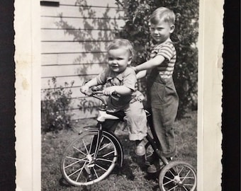 Original Antique Photograph Dorothy's Boys Clifford & Wesley