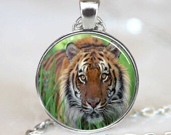 Tiger Necklace,Tiger pendant,Wild Animal Jewelry, Big Cat Pendant(PD0007)