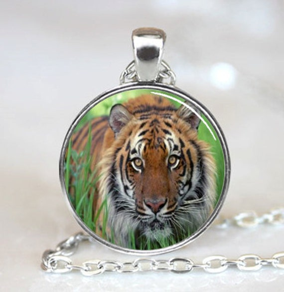 Tiger Necklace,Tiger pendant,Wild Animal Jewelry, Big Cat Pendant(PD0007)