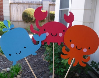 Set Of 3 Under The Sea Centerpieces