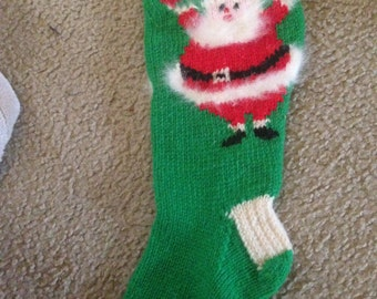 2016 Christmas -Personalized Hand Knitted Christmas Stocking