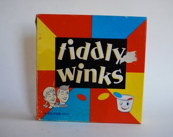 Vintage Tiddly Winks Game by All-Fair