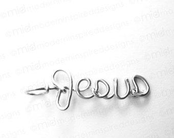 Jesus Necklace - Christian Jewelry - Faith - Jesus Jewelry - Christian Gift - Scripture - Bible Verse Jewelry - Inspirational Jewelry