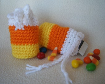 Halloween Candy Corn Treat Bags - Set of 2