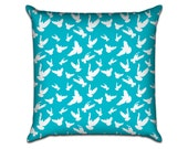 """Doves - Original Illustrated Pattern Sofa Throw Pillow Envelope Cover for 18"""" inserts"""