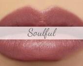 "Vegan Lipstick Sample - ""Soulful"" (earthy mauve, brownish purple) lip tint, balm, lip colour"