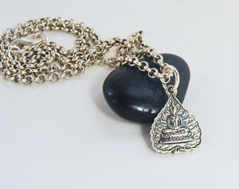 Silver Buddha Necklace . Bestseller