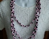 Recycled Braided T Shirt Necklace