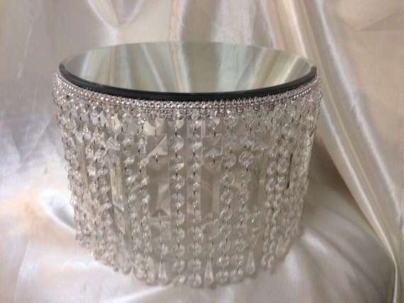 Crystal effect waterfall design wedding cake stand all for Waterfall design etsy