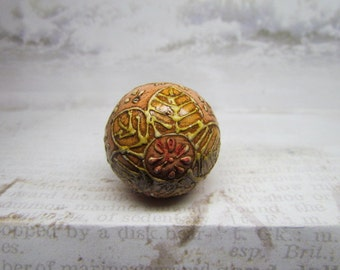 Peach Distressed  Wine Bottle Stopper
