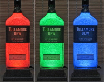 Tullamore Dew Irish Whiskey Remote Controlled Color Changing LED Bottle Lamp Bar Light Sign