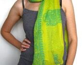 Shawl scarf Sanskrit hindou hindi script ganesh peace hippie meditation india yoga zen boho