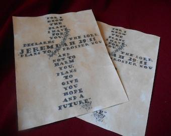 Cross Text Drawing Jeremiah 29:11 PRINT