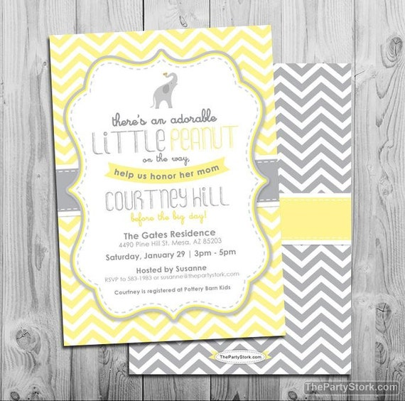 Lovely Gray And Yellow Baby Shower Invitations Part - 9: Like This Item?