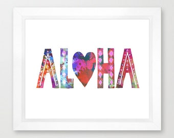 ALOHA (Style -A)  Art Print  by SchatziBrown