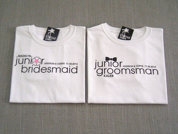 Wedding Gift For Junior Groomsmen : Junior Groomsman Black Bow Tie Wedding Gift and Junior Bridesmaid ...
