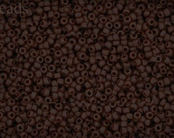 TOHO 15/0 Seed Beads Size 15 10g Opaque-Frosted Oxblood Nr. 15-46F Chocolate Brown last