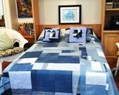 Denim Pieced Queen Bedspread