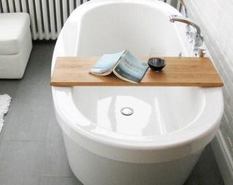 Wood Bath/tub caddy/platter/tray of salvaged wood spa natural organic eco gift custom made